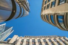 Oddolny widok nowożytna Londyńska architektura zdjęcie stock