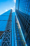 Oddolny widok nowożytna Londyńska architektura obraz stock