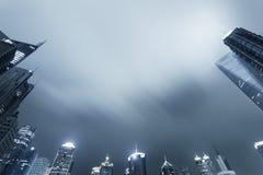 Oddolny widok Shanghai linia horyzontu fotografia royalty free
