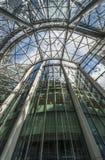 Oddolny widok wśrodku CityPoint drapacza chmur, Londyn UK zdjęcie royalty free