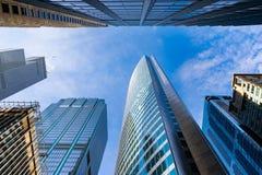 Oddolny widok W centrum Chicagowscy drapacz chmur zdjęcie stock