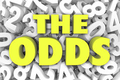The Odds 3d Word Letters Number Background Chances Possible Like Stock Images