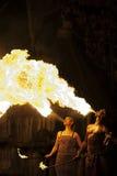 Oddychać ogień Zdjęcia Royalty Free
