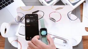 Oddycha app mindfulness app na jabłczanym zegarku 4 zbiory wideo