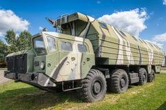 Oddziału wojskowego transporter opierający się na MAZ ciężarówce Obrazy Royalty Free