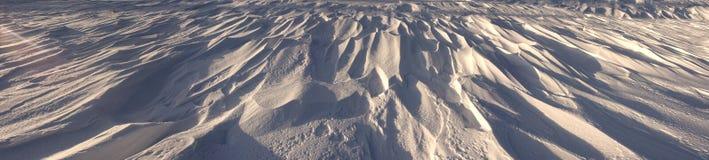 oddziaływania wzorów rezultata śniegu słońca wiatr Obrazy Stock