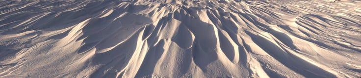 oddziaływania wzorów rezultata śniegu słońca wiatr Zdjęcie Royalty Free