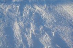 oddziaływania wzorów rezultata śniegu słońca wiatr Obrazy Royalty Free