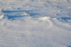 oddziaływania wzorów rezultata śniegu słońca wiatr Obraz Royalty Free