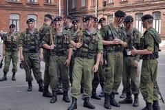 Oddział żołnierze piechoty morskiej Zdjęcia Royalty Free
