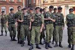 Oddział żołnierze piechoty morskiej Zdjęcia Stock