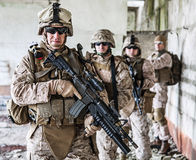 Oddział żołnierze piechoty morskiej Zdjęcie Royalty Free