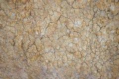 Oddziela ziemię, spiekającą ziemię lub desiccated ziemię zmieloną lub krakingową Zdjęcie Stock