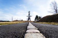 Ode pour allumer la sculpture - vue de rue Photo libre de droits