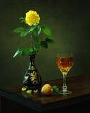 Ode zu gelber Rose Stockfoto