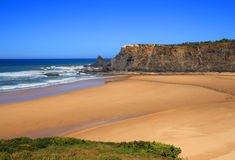 Odeceixe海滩, Vicentine海岸,阿连特茹,葡萄牙 免版税图库摄影