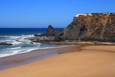 Odeceixe海滩, Vicentine海岸,阿连特茹,葡萄牙 免版税库存图片