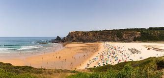 The Odeceixe beach in Portugal stock photos