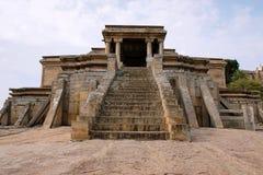 Odegal Basti of basadi, Vindhyagiri-Heuvel, Shravanbelgola, Karnataka Front View Royalty-vrije Stock Afbeelding