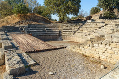 Odeion and Bouleuterion in ancient city Troy. Turkey Royalty Free Stock Images