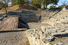 Odeion and Bouleuterion in ancient city Troy. Turkey Stock Image