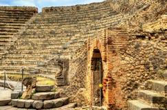 Odeion, das kleine Theater von Pompeji stockbild
