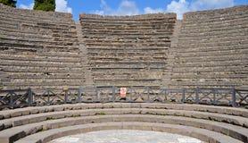 Odeion (small theatre) in Pompeii Stock Photo
