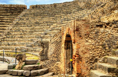 Odeion, the small theatre of Pompeii Stock Image