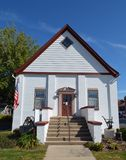 Odell Building. This is a Fall picture of the iconic Odell Building located in Morrison, Illinois. The building was built as a Congregational Church, is an stock images