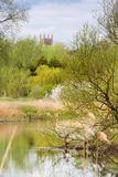 Odell church in Bedfordshire with great ouse river Royalty Free Stock Photography
