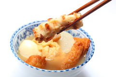 Oden, alimento giapponese fotografia stock