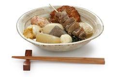 Oden, alimento japonés imagenes de archivo