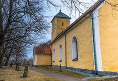 Odensala, Schweden - 1. April 2017: Odensala-Kirche, Schweden Lizenzfreies Stockfoto