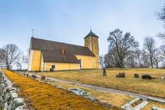 Odensala, Schweden - 1. April 2017: Odensala-Kirche, Schweden Stockbild