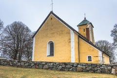 Odensala, Suède - 1er avril 2017 : Église d'Odensala, Suède Photos libres de droits