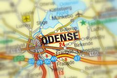 Odense, een stad in Denemarken Royalty-vrije Stock Afbeelding
