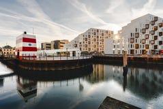 Odense utomhus- hamnsimbassäng, Danmark Royaltyfri Bild
