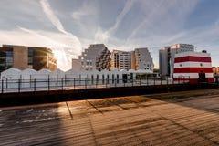 Odense utomhus- hamnsimbassäng, Danmark Fotografering för Bildbyråer