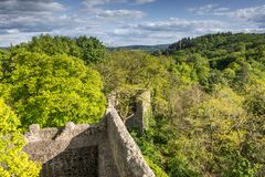 The Odenwald Seen From Castle Frankenstein, Hesse, Germany royalty free stock photography