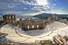 Odeon剧院在雅典,希腊 免版税库存图片