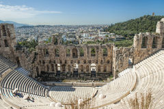 Odeon, Acropolis of Athens. Odeon of Herodes Atticus located on the south slope of the Acropolis of Athens Stock Image