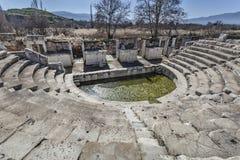 Odeon in Afrodisia Immagini Stock