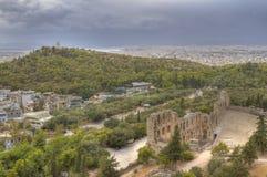 Odeon av den Herodes atticusen Arkivfoto