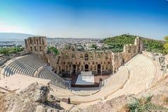 Odeon av den Herodes atticusen Royaltyfria Bilder