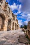Odeon av den Herodes atticusen, Aten, Grekland Arkivbild
