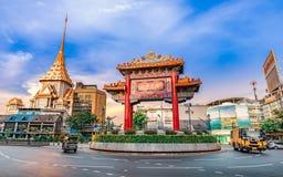 Odeon Circle The Arch Gateway to Yaowarat or Bangkok Chinatown. BANGKOK, THAILAND - MAY 12, 2018 - Odeon Circle The Arch Gateway to Yaowarat or bangkok China Stock Images