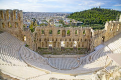 Odeon d'Atticus de Herodes Image stock