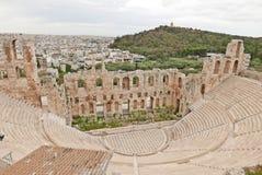 Odeon d'Atticus de Herodes Photographie stock libre de droits