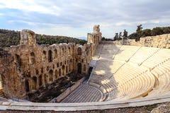 Odeon d'Atticus de Herodes Photo libre de droits