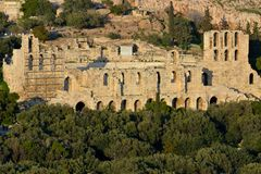 Odeon de Herodes Photo libre de droits